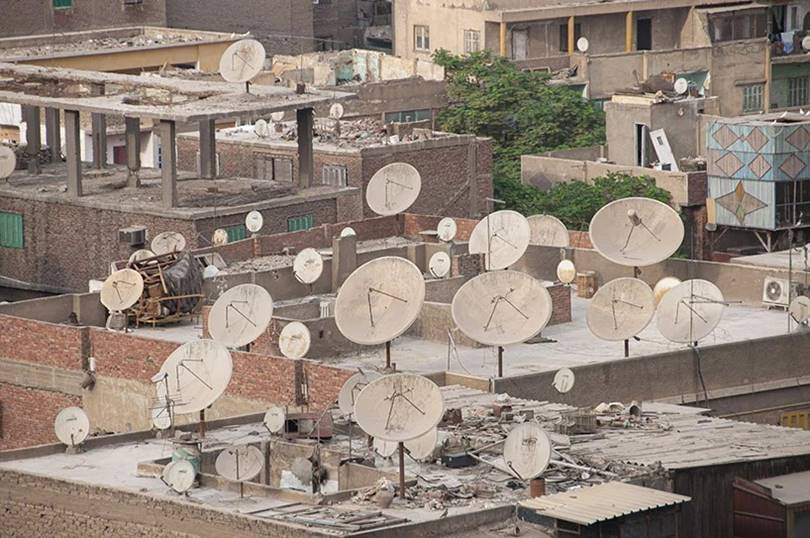 The abundance of satellite dish antenna in the cities of North Africa