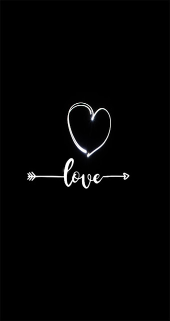 heart  love  iphone wallpaper black and white
