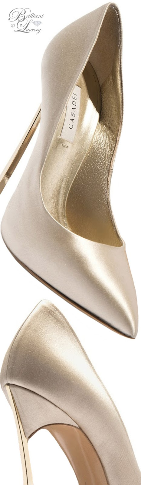 Brilliant Luxury ♦ Fall in ~ Casadei Blade high heels in gold