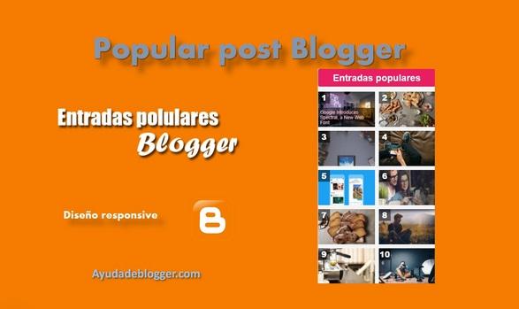 Entradas populares Blogger