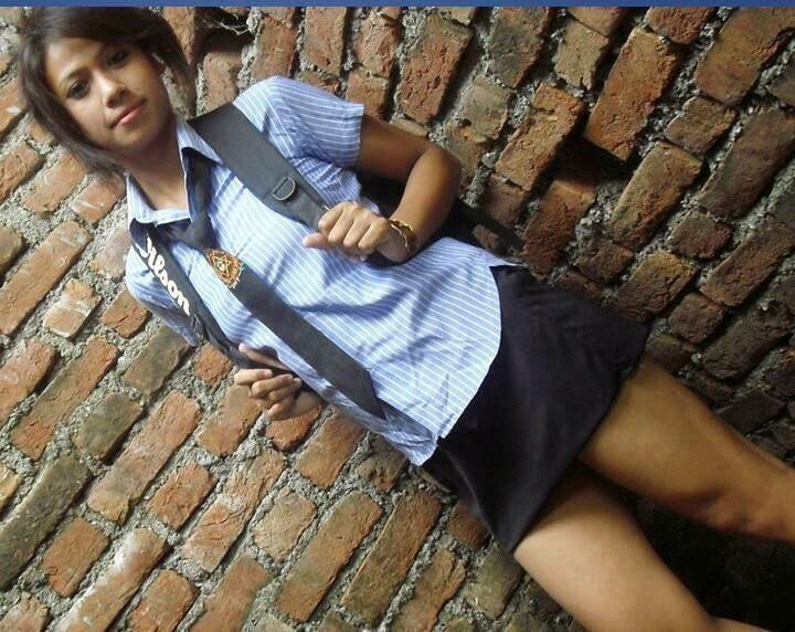 Nepal school girls photo in school dress