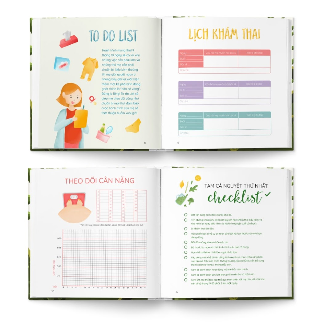 [A116] Bộ đôi sách tô màu giúp Bà Bầu có trải nghiệm thai kỳ thú vị nhất