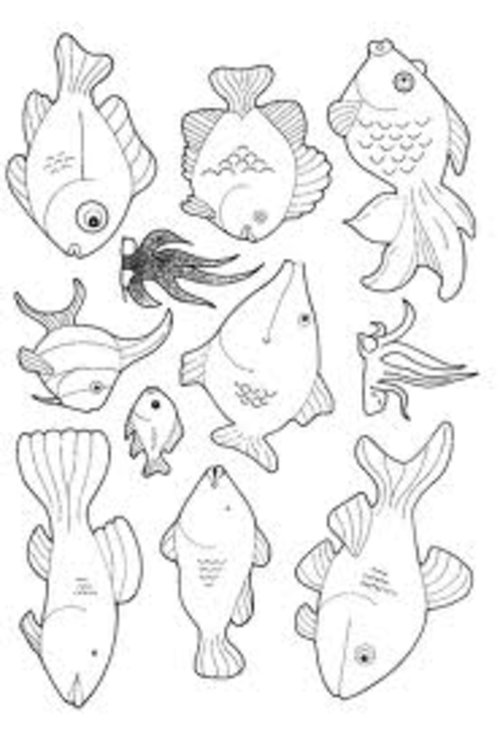 free small fish coloring pages | Small Fish Coloring Pages For Kids >> Disney Coloring Pages