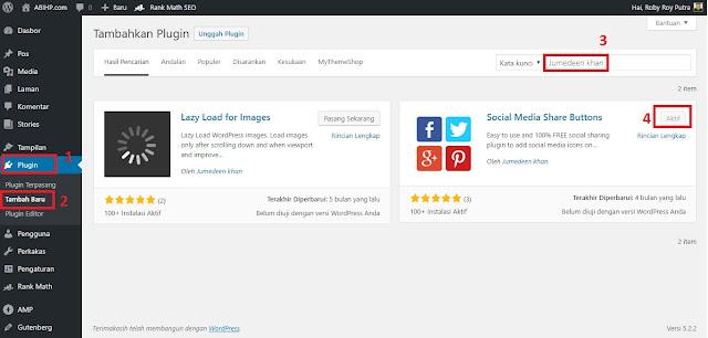 Instal Plugin Social Share