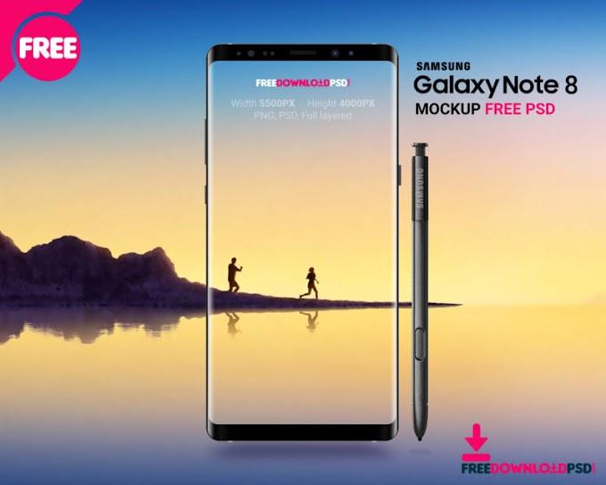 Samsung Note 8 Mockup Free PSD