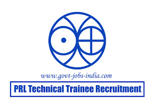 PRL Technical Trainee Recruitment 2020