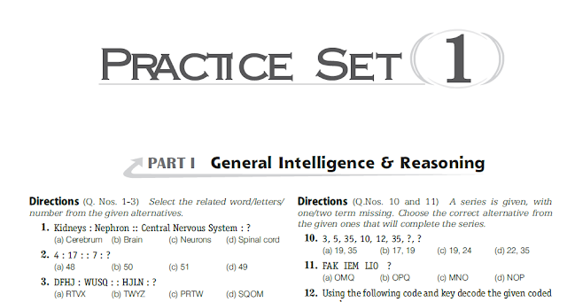 SSC CGL Tier-I Practice Set PDF Free Download - Mock Tests