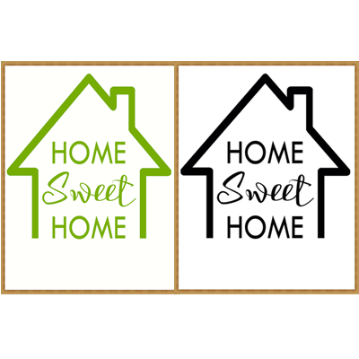 FREE PRINTABLES WALL ART - HOME SWEET HOME