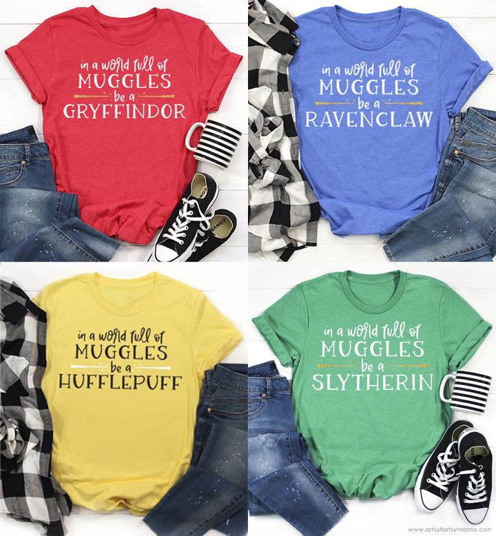 Harry Potter Hogwarts House Shirts