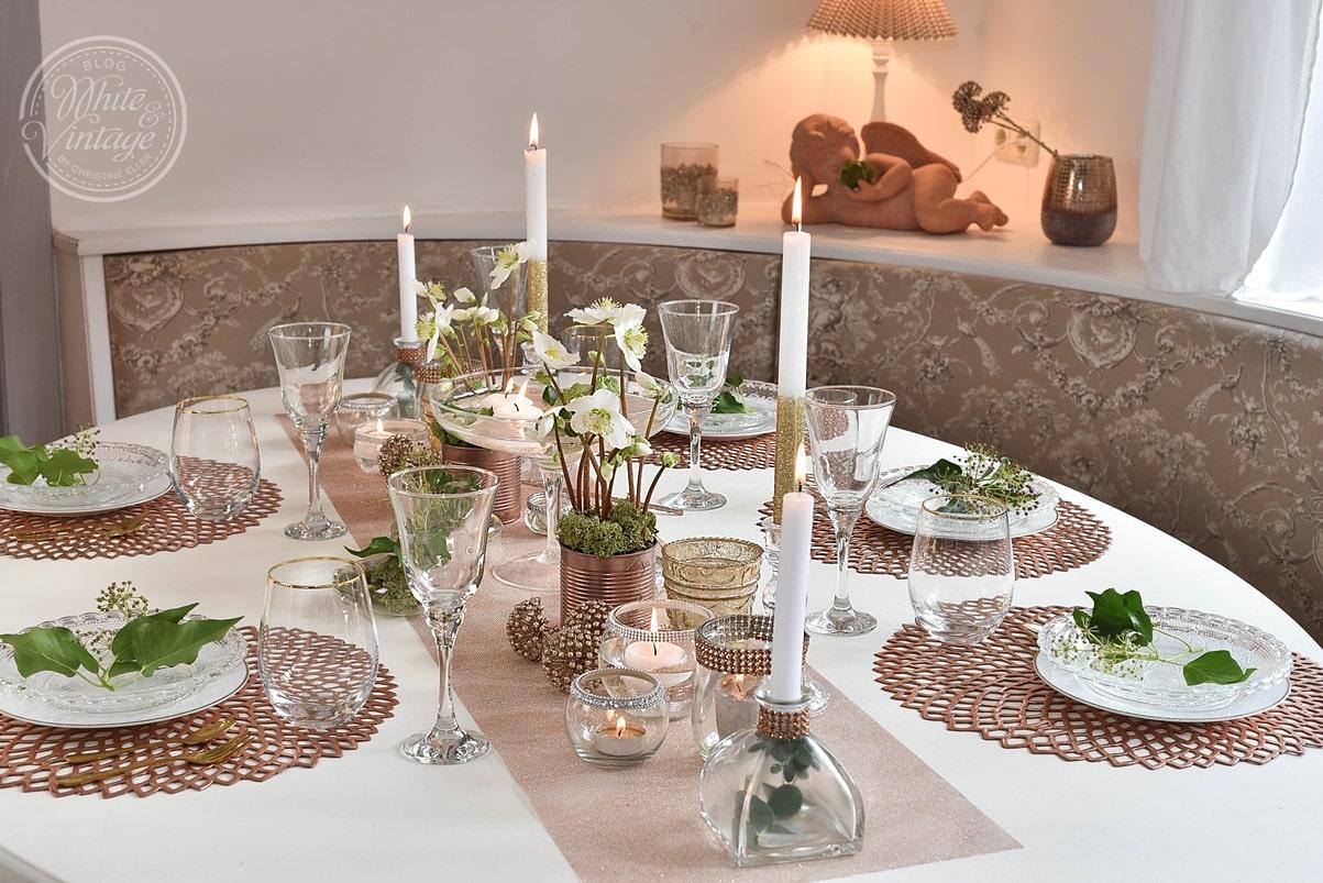 Tischdekoideen für die Silvesterparty.