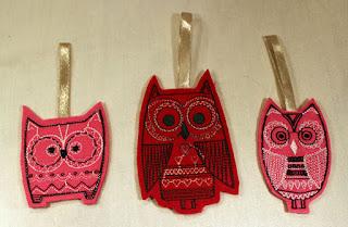 machine embroidery, felt, feutrine, broderie machine