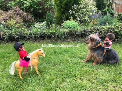 kiki monchhichi écuyer équitation silky terrier toys life cheval barbie