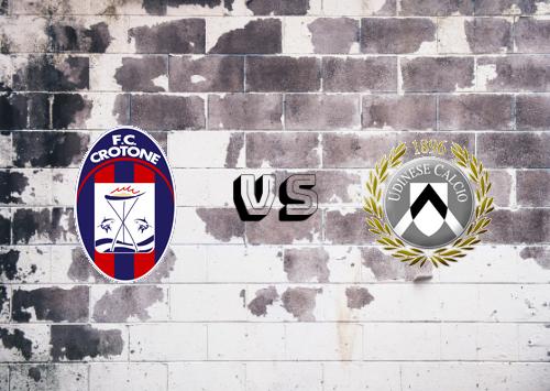 Crotone vs Udinese  Resumen