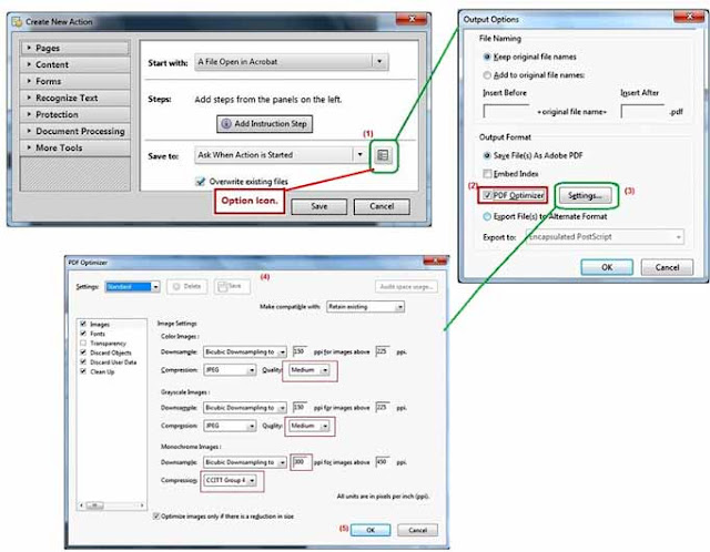 Optimize settings for reduce PDF size