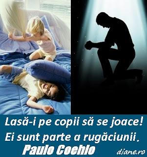 Lasă-i pe copii să se joace! Ei sunt parte a rugăciunii!