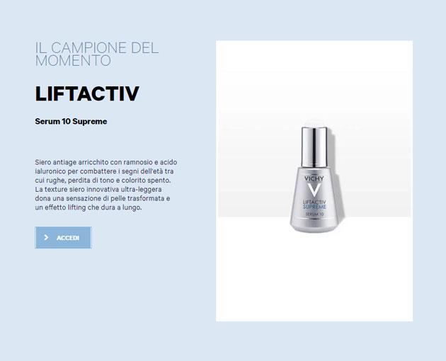 Liftactiv Serum 10 Supreme: campione gratis antiage Vichy