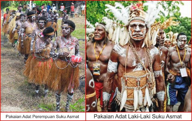 Gambar Pakaian Adat Suku Asmat Papua