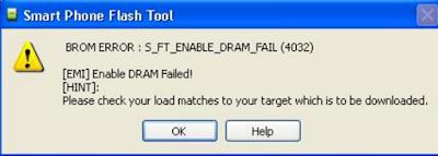 Kode-Kode Error SP Flash Tool