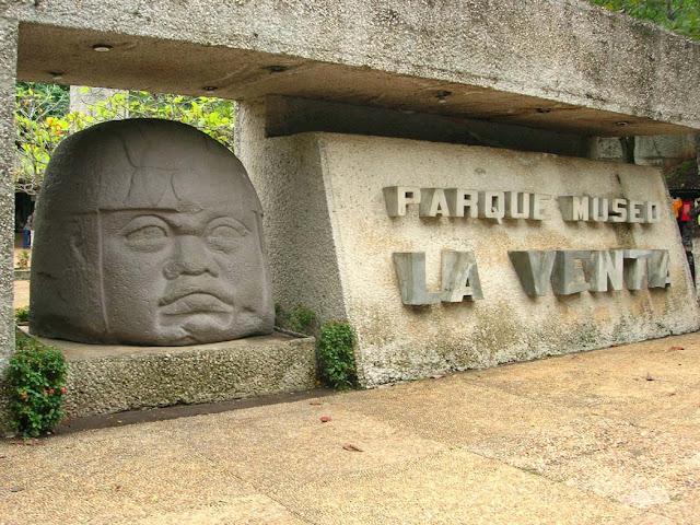 Olmec sculpture, La Venta Museum, Villahermosa