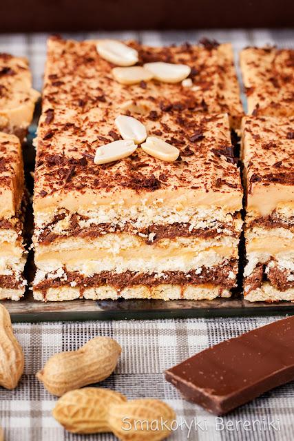 Ciasto z kremem orzechowo-czekoladowym
