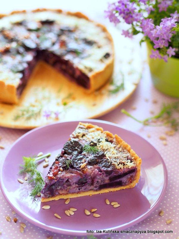 tarta z marchewka, quiche marchewkowy, zapiekanka marchewkowa, czarna marchew, fioletowa marcheweczka, przepis na pyszna tarte, zdrowe warzywo, warzywa korzeniowe