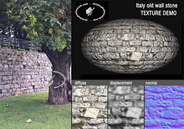Italy old wall stone texture seamless 20502