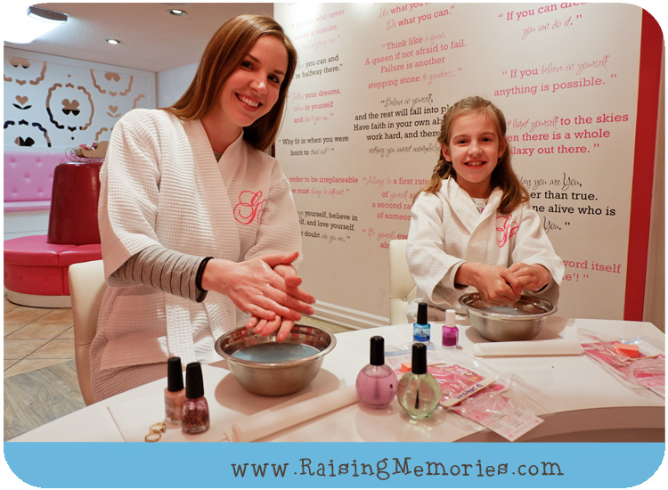 Mommy Daughter manicure at Tween Spa