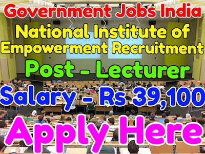 National Institute of Empowerment Recruitment 2017