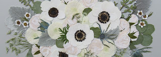 Pressed Flowers made from a Bridal Bouquet