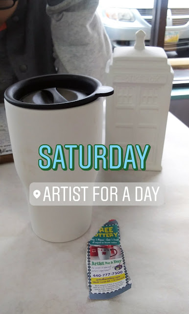 An Artist for a Day, coffee, Doctor Who, and a coupon