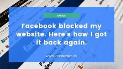 Facebook bloqueou meu site. Veja como consegui de volta.