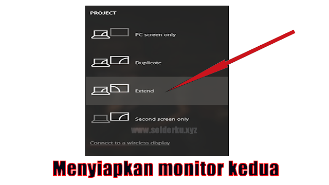 Cara setting Dual Monitor Windows 10