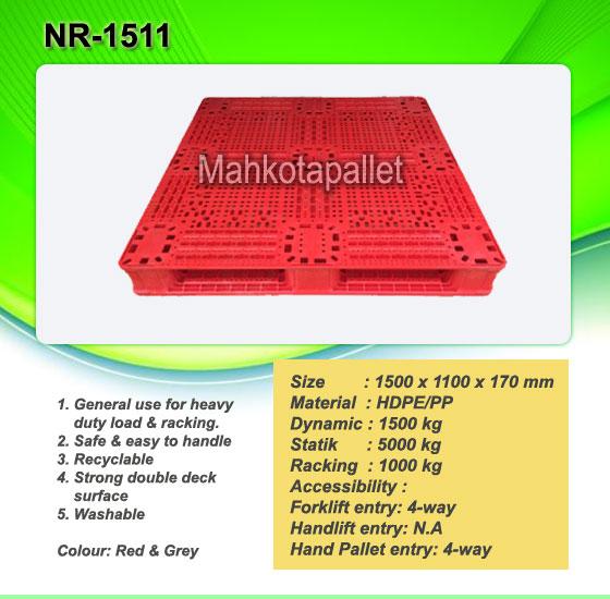 Pallet Plastik NR-1511 | Jual Pallet Plastik