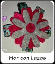 Broche flor con lazos