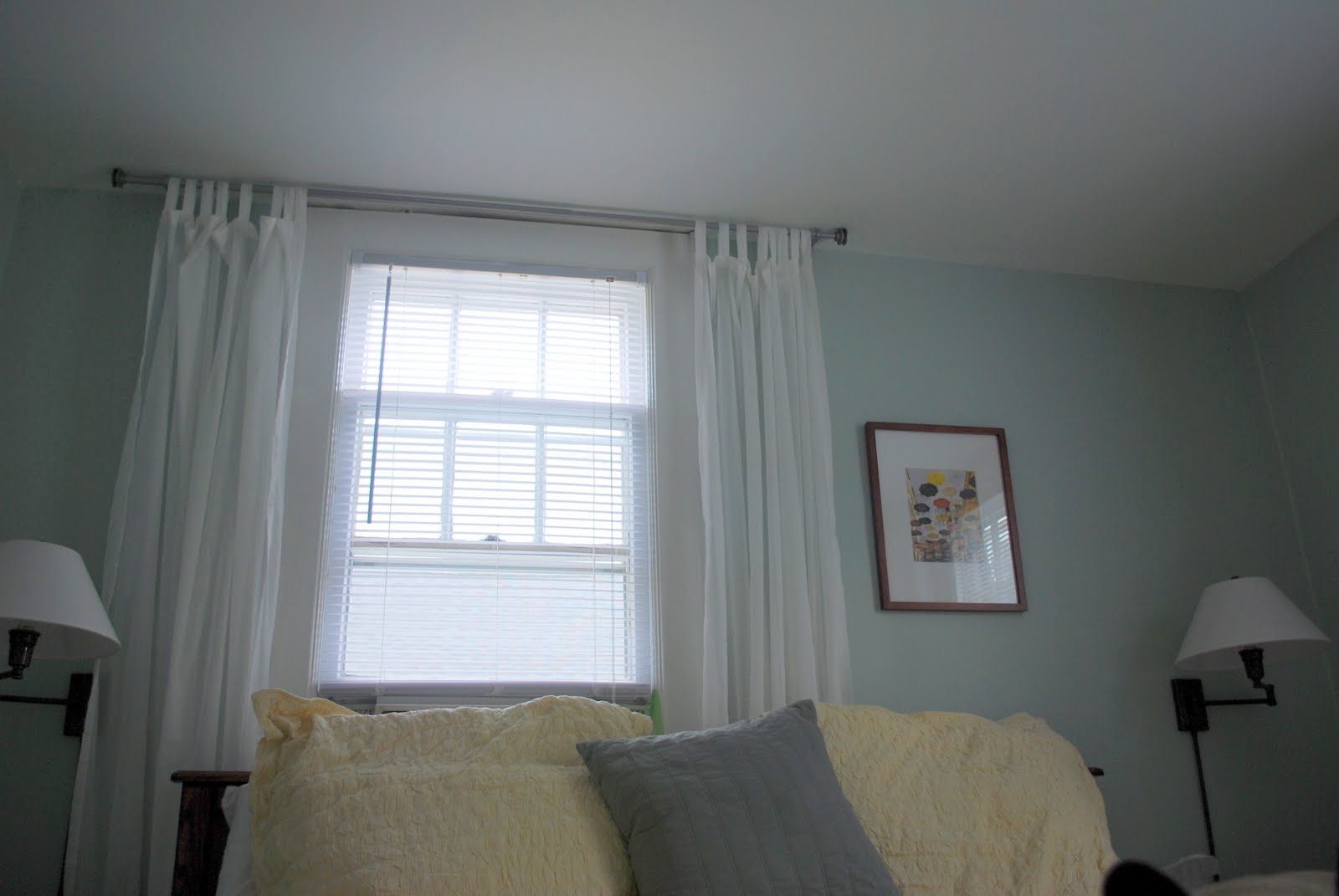 In The Little Yellow House: Master Bedroom Curtains & Mirror