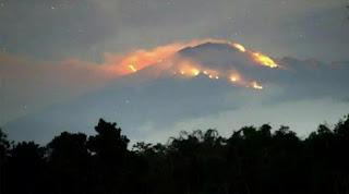 Kebakaran hutan gunung Lawu