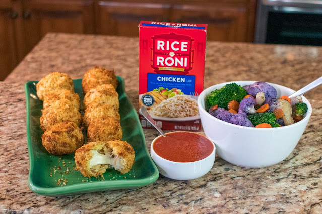 How to Make Air Fryer Cheesy Rice-A-Roni Balls!