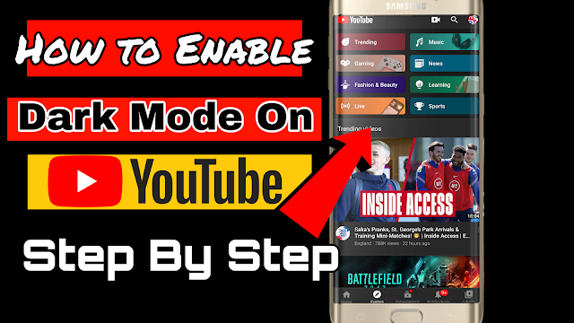 How to turn on dark mode on youtube mobile step by step