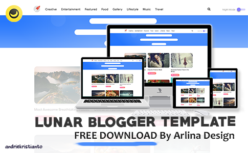 Lunar Responsive Blogger Template by Arlina Design