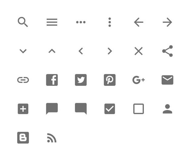 Một số icon svg trong template mặc định và cách sử dụng