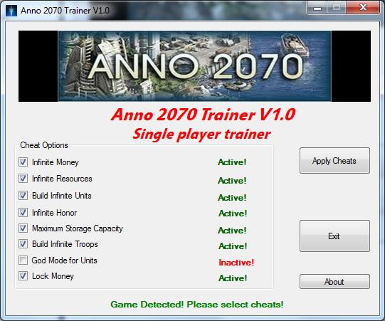 Anno 2070 Cheats