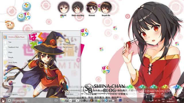 Windows 10 Ver. 1703 Theme Megumin - KonoSuba! by Enji Riz
