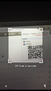 QR Scan with Chrome on iPhone