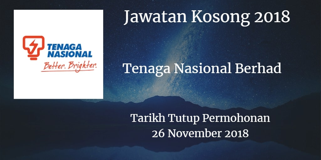 Jawatan Kosong TNB 26 November 2018