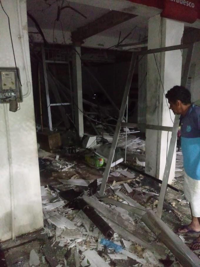 Grupo armado explode agência bancária em Umirim, no Ceará
