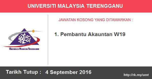 Jawatan Kosong di Universiti Malaysia Terengganu