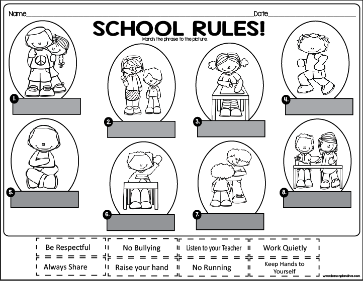 school rules freebie classroom freebies. Black Bedroom Furniture Sets. Home Design Ideas