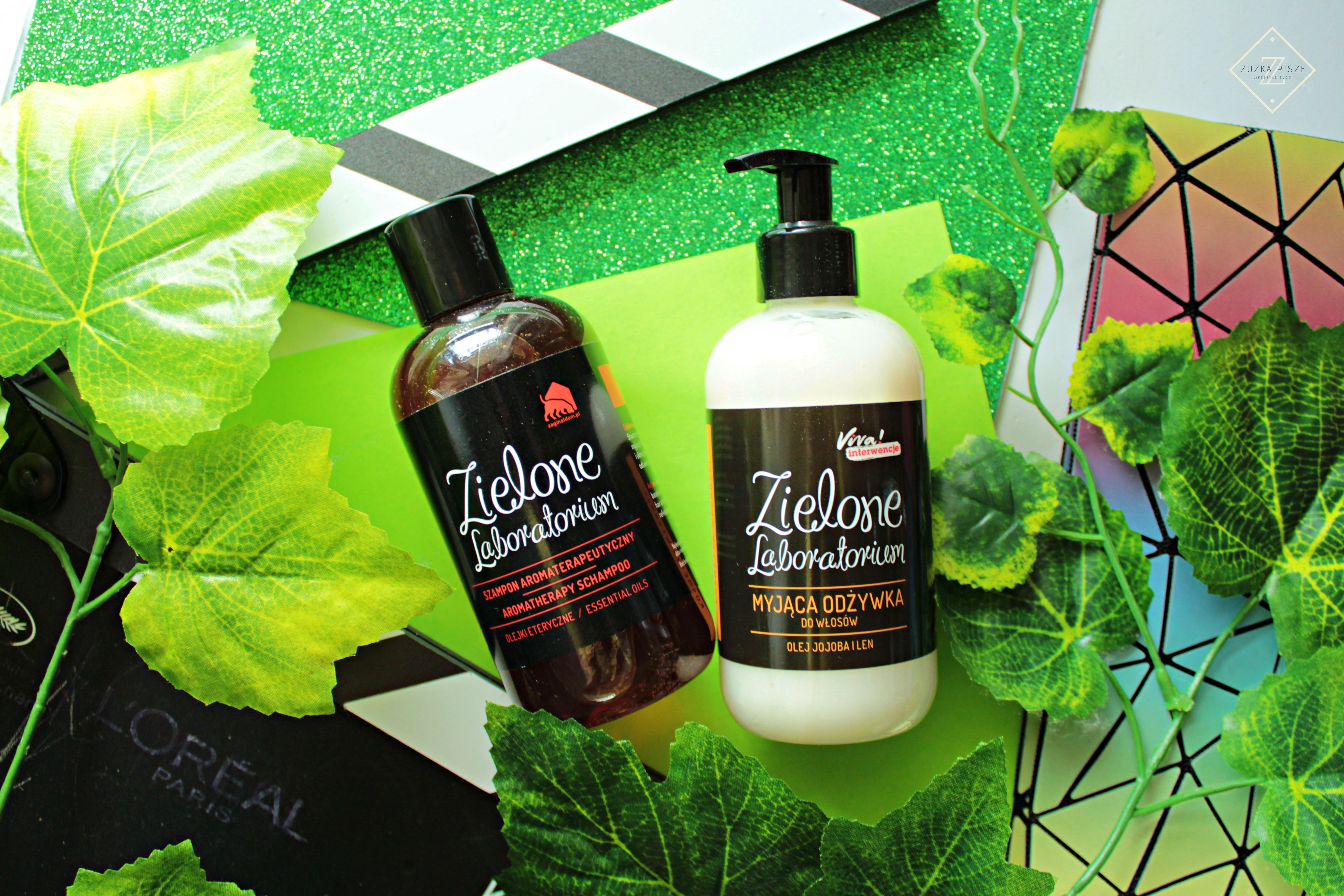 Szampon do włosów aromaterapeutyczny  z olejkami eterycznymi Zielone laboratorium
