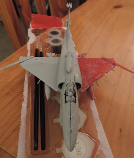plastic aircraft gluing painting scouts project