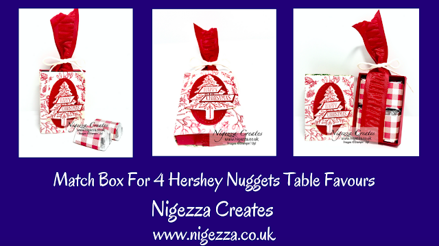 Nigezza Creates with Stampin' Up! Toile Tidings & Hershey Nuggets. Match Box Table Favour